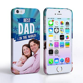 Caseflex iPhone 5 and 5S Best Dad in the World (Blue) CaseandCover