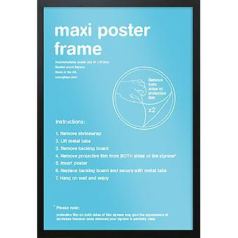 Eton svart ram Maxi affisch / Skriv ut ram