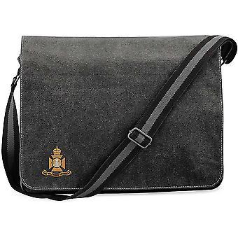 Wiltshire Regiment - lizenzierte britische Armee bestickt Vintage Leinwand Versand Messenger Tasche
