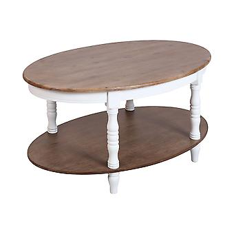 White, brushed grey-brown acacia veneer grand forks coffee table stein world