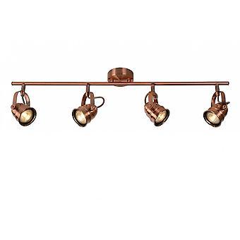 Lucide Cigal Cottage Rectangle Metal Copper Ceiling Spotlight