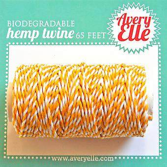 Avery Elle Hemp Twine 65ft-Citrus T16-09