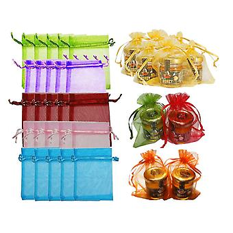 30 Assorted Organza Gift Bags / Pouches - 15cm x 12cm