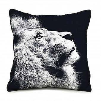 Wellindal Cotton Cushion Cover Lion Sauvage (Decoratie , Textiel , Kussens , Kussens)