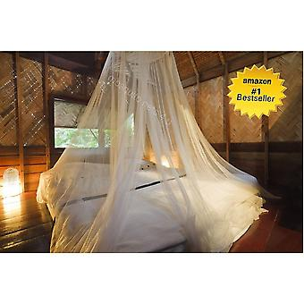 Large Mosquito Net Bed Canopy (12 Meters, Full Coverage), with Drawstring Bag