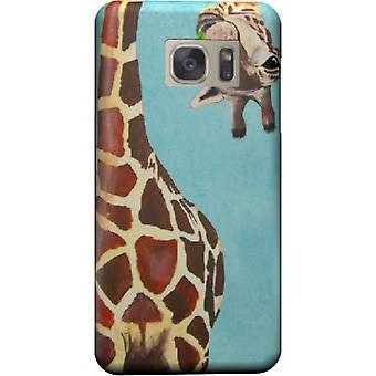 Couverture de shoot girafe avec feuille de Galaxy S6