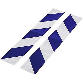 Warning stripe Conrad Components RTS Blue, Silver (L x W) 400 mm x 60 mm Content: 2 pc(s)