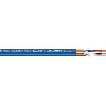 Microphone cable 2 x 2 x 0.22 mm² Blue Sommer Cable 200-0552 Sold per metre