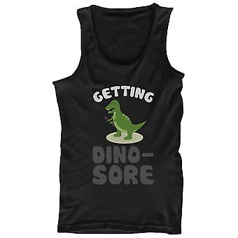 Getting Dino-Sore Men's Funny Work Out Tank Top Cute Sports Sleeveless Tank