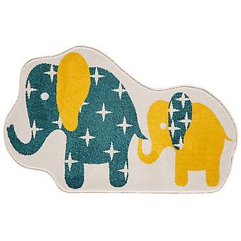Kids krikand blå & gul Nellie elefant soveværelse tæppe