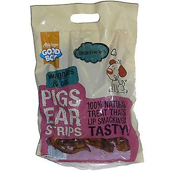 God dreng Waggles & Co svin øre strimler 500g (pakke med 5)