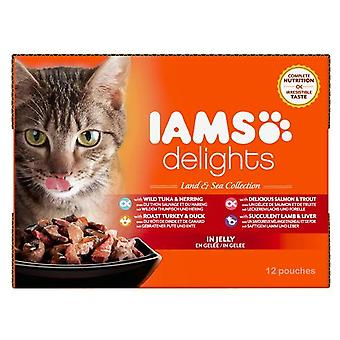 Iams Delights Cat Pouch Land Sea In Jelly 12x85g
