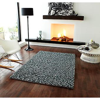 Designer Grey Wool Rug Bobbles