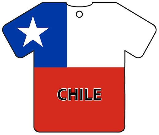 Personalised Chile Flag Jersey Car Air Freshener