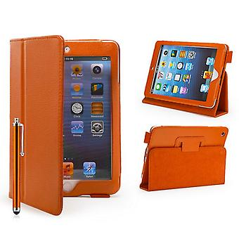 Prenotare Leather Case Cover per Apple iPad Mini + penna stilo - Orange