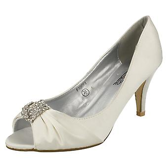 Ladies Spot On Diamonte Heels F10059