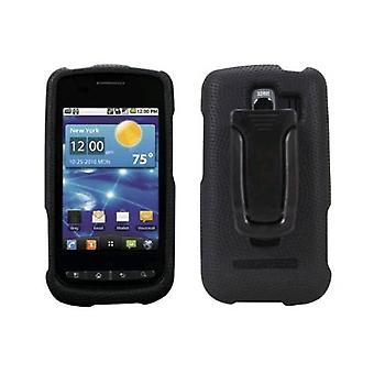 Body Glove Snap On Cover with Belt Clip for LG Vortex VS660 (Black)