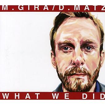 Gira/Matz - hvad vi gjorde [CD] USA import
