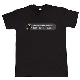 Vectorbomb, Achievement Unlocked - Left The House, Mens Funny Gaming Tshirt