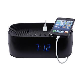 Groov-e inalámbrica Bluetooth alarma ClockRadio con teléfono USB carga puntos - negro