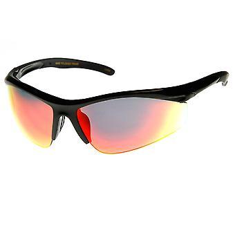 Lunettes semi-sans exécution Cyclisme Sports Wrap lunettes de soleil de haute qualité