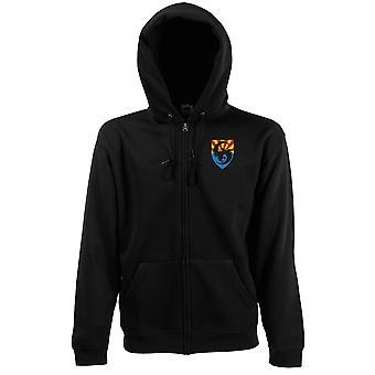 US Army 111th Military Intelligence Brigade Embroidered Logo - Zipped Hoodie Jacket