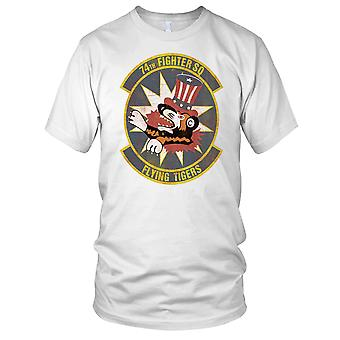 USAF Air Force 74e Fighter Squadron Grunge Effect Kids T Shirt