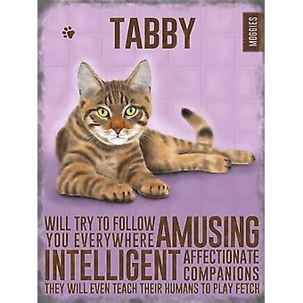 Medium Wall Plaque 200mm x 150mm - Tabby Cat