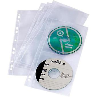 Durable CD/DVD sleeve for ring binder 5x-Set 5282-19 Transparent 4 CDs/D