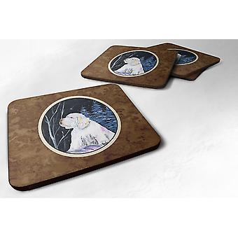 Carolines Treasures  SS8346FC Set of 4 Clumber Spaniel Foam Coasters