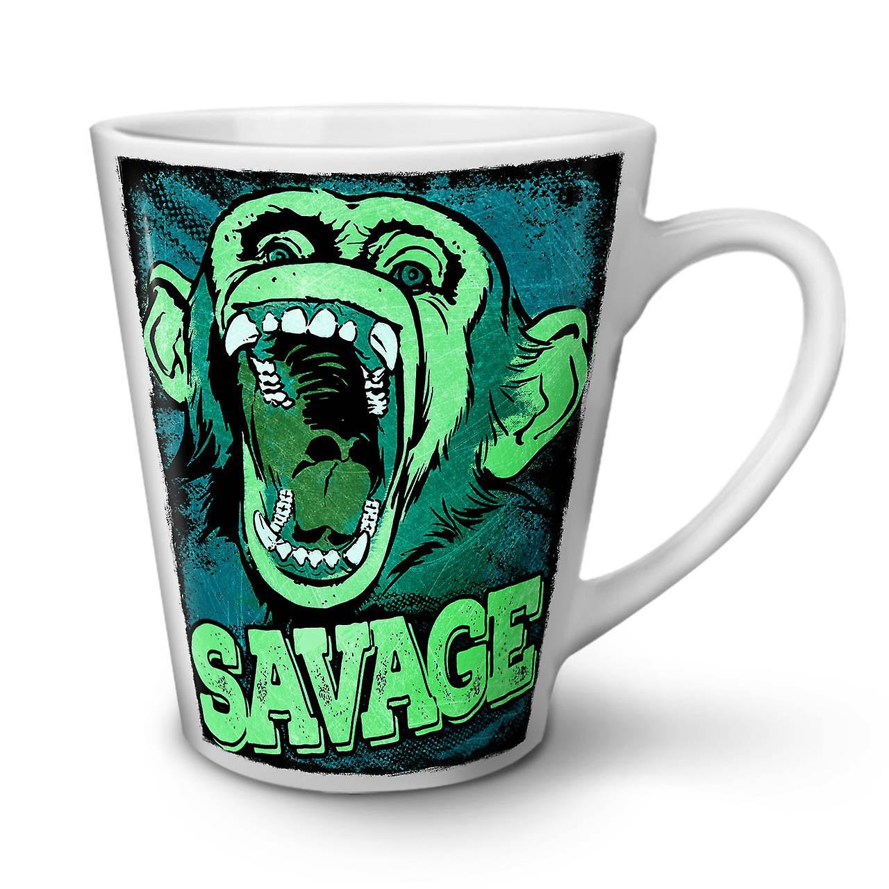 Singe Blanc En OzWellcoda Nouveau Drôle Mug Thé Savage Latte Céramique 12 Café KulFJTc13