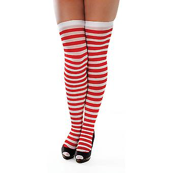 Stockings, Striped. Red/White