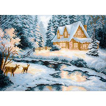 Collection D'Art Stamped Cross Stitch Kit 37X49cm-Taiga House CDPA0643