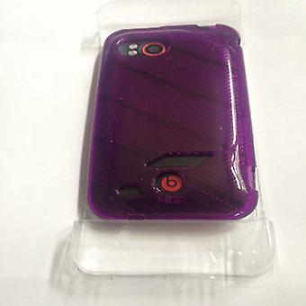 Verizon High Gloss TPU Soft Case for HTC Rezound  (Purple )