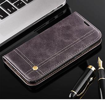 Cell phone cover case voor Apple iPhone 7 cover Wallet case grijs
