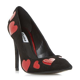 Dune dames être aimé Glitter coeur bout pointu chaussure en noir