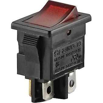 Toggle switch 250 Vac 6 A 2 x Off/On SCI R13-73C-0