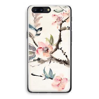OnePlus 5 Transparant Case - Japenese flowers