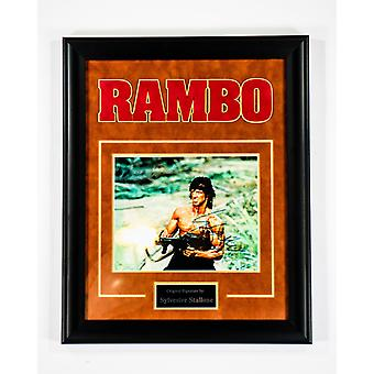 Rambo - Signed by Sylvester Stallone - Framed Artist Series
