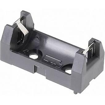 Battery tray 1x 1/2 AA Solder lug (L x W x H) 34.5 x 16 x 15 mm Keystone 108