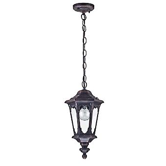 Maytoni Lighting Oxford Medieval Glass Outdoor Black Hanging Lantern