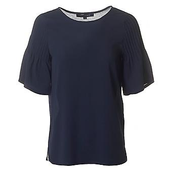 French Connection Classic Crepe Light Flute Sleeved Top