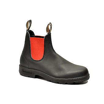 Blundstone men's 508BLACKRED black leather ankle boots