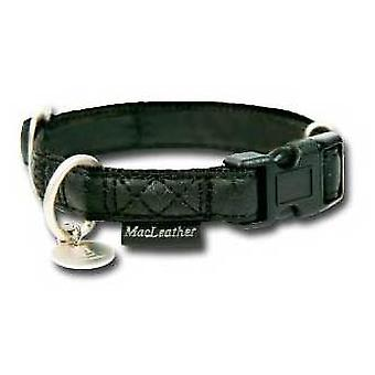 Nayeco Black dog collar MacLeather M (Dogs , Collars, Leads and Harnesses , Collars)