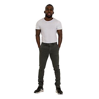 Slim Fit Mens Chinos - Grey Smart Casual Chino Trousers Mens Pants