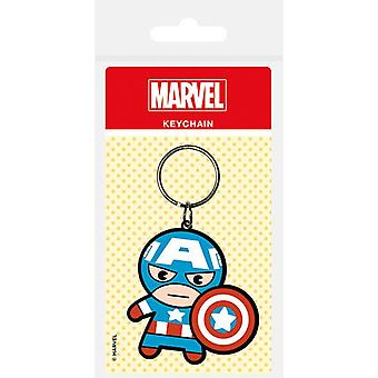 Marvel Kawaii (Captain America) rubber keychain