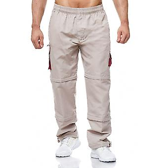Men's Cargo Pants Zip 3/4 Uni Shorts Short Bermuda 7/8 Cargohose 3 Lengths