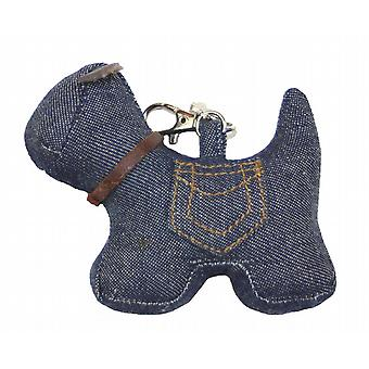 Denim Dog Bag or Key Charm by Monica Richards
