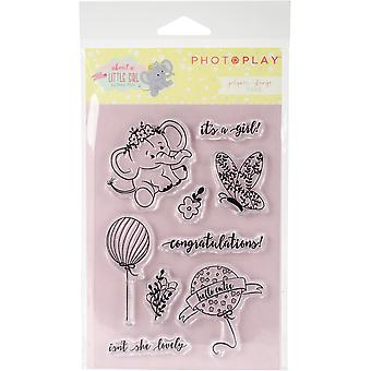 About A Little Girl Polymer Stamps-