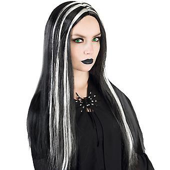魔女かつらブラック シルバー ハロウィーンの恐怖